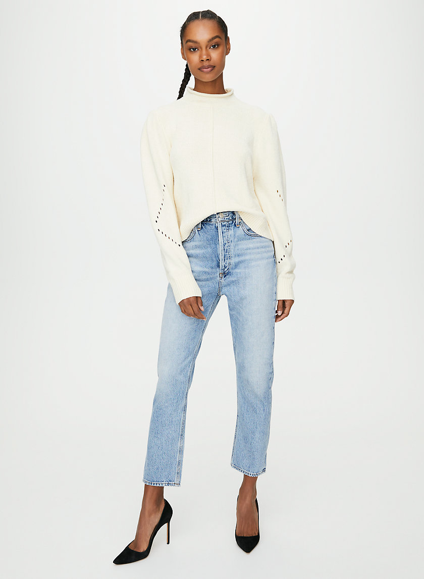 DOUBLE POCKET RILEY PRESSURE - High-waisted straight leg jean