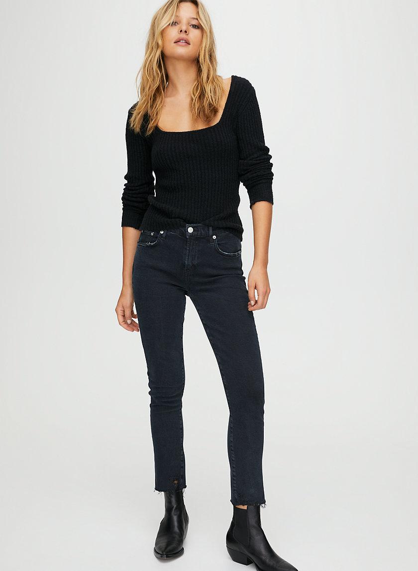 TONI FERAL - Mid-rise, straight leg jeans