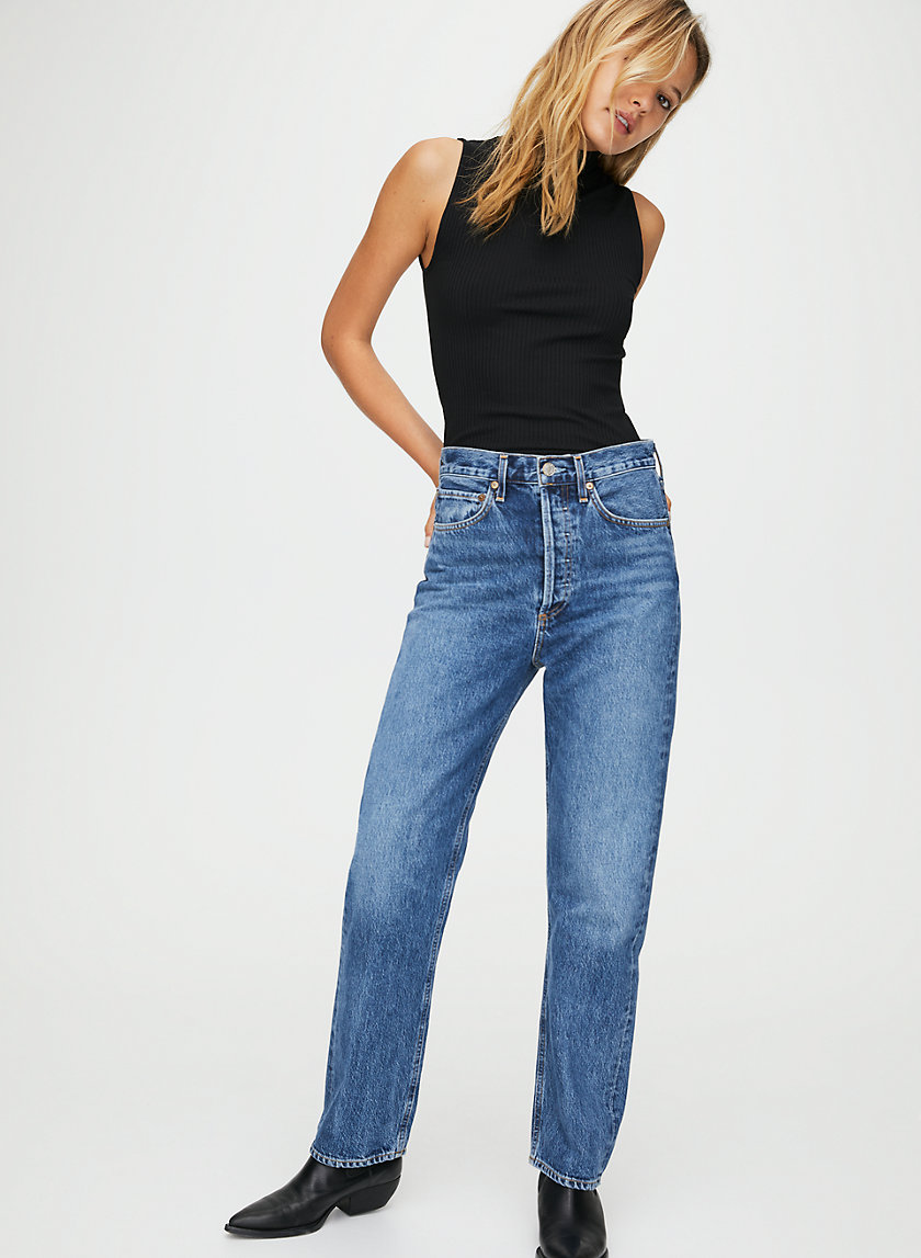 '90S JEAN PLACEBO - High-waisted boyfriend jeans