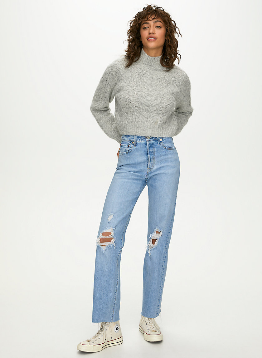 RIBCAGE FULL LENGTH - High-waisted straight leg jean