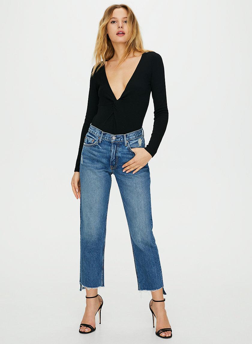 HELENA CROP CLOSE TO YOU - High-waisted straight leg jean