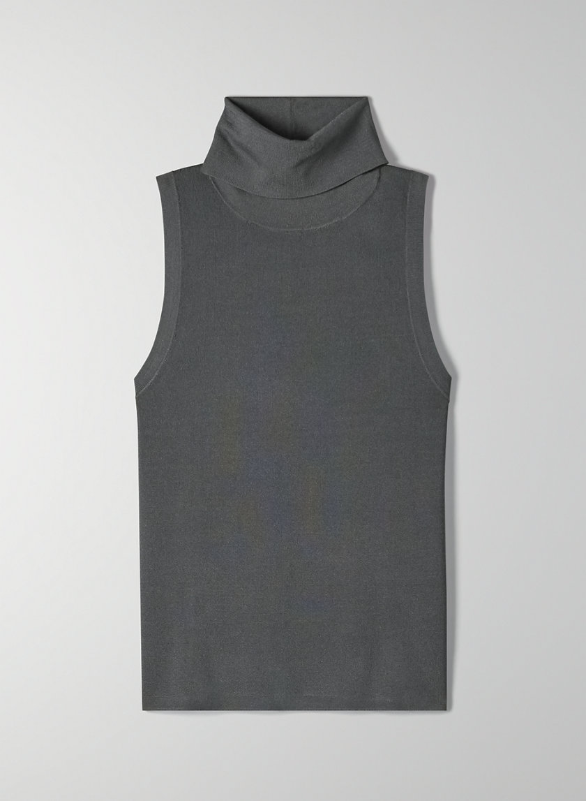 CRAVAN TURTLENECK - Sleeveless knit turtleneck
