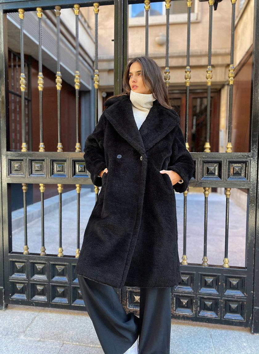 THE TEDDY COAT - Long wool teddy coat