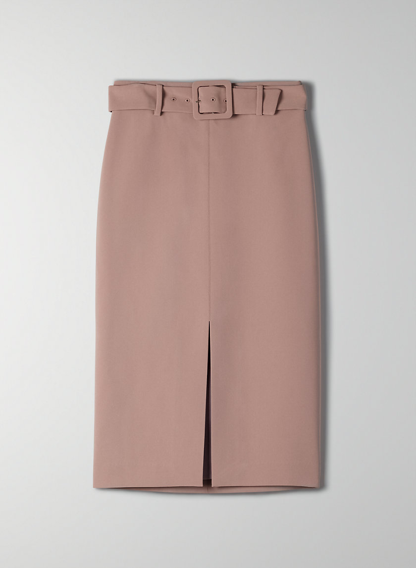 BRAMBLE SKIRT - Belted pencil skirt