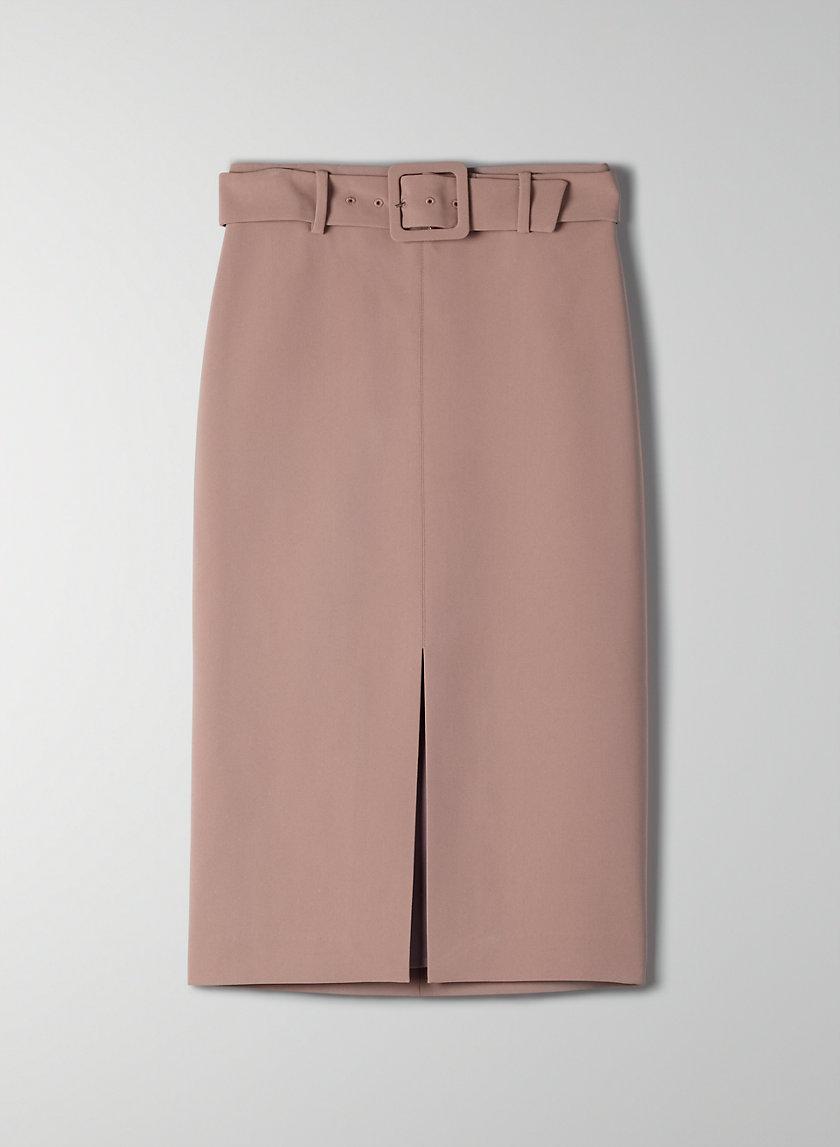 BRAMBLE SKIRT - Belted pencil skirt