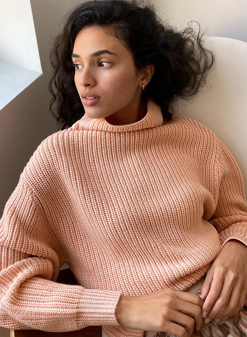 MONTPELLIER SWEATER - Merino-wool, mock-neck sweater