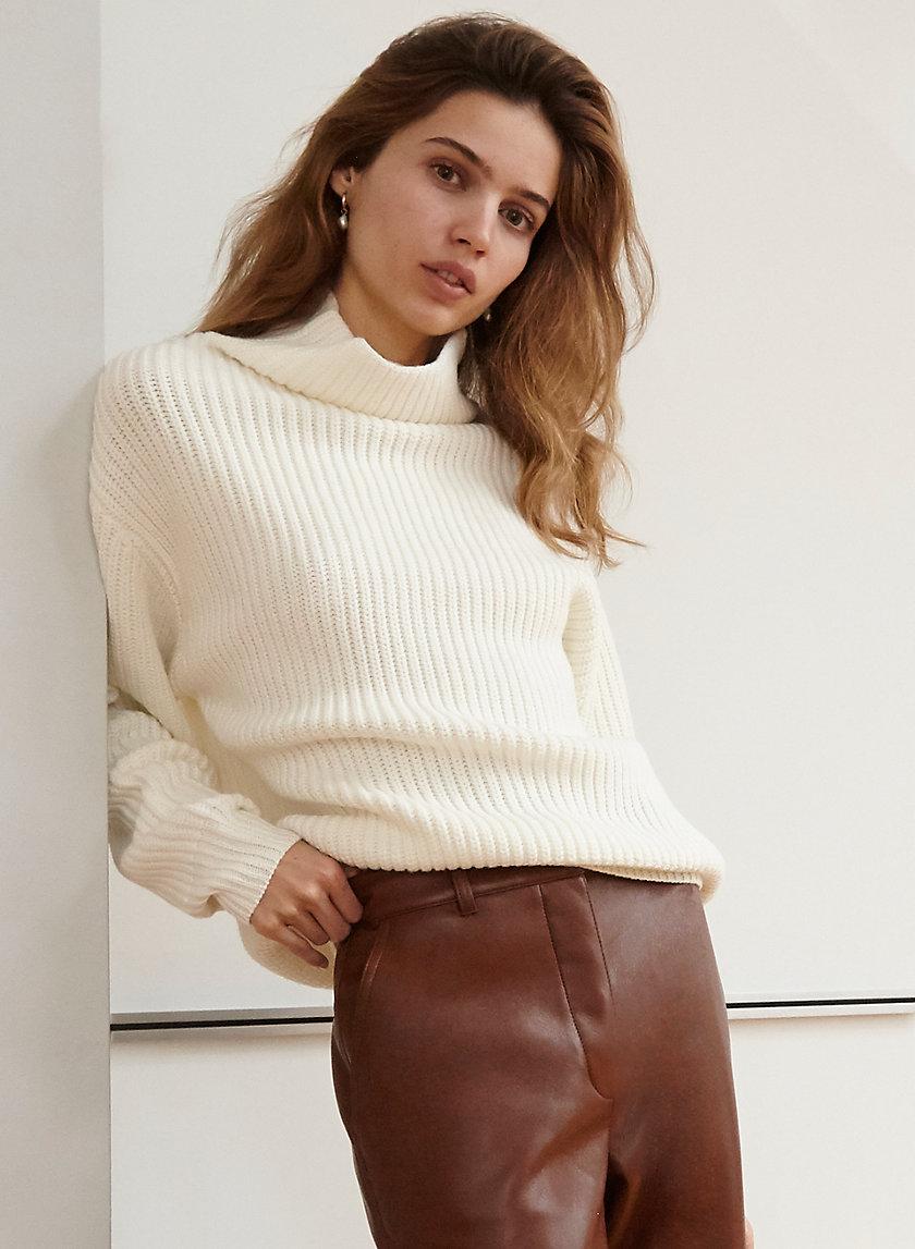 MONTPELLIER SWEATER - Oversized mockneck sweater