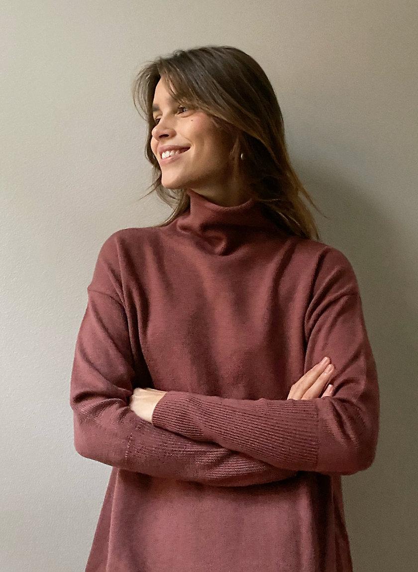 CYPRIE DRESS - Wool turtleneck sweater dress