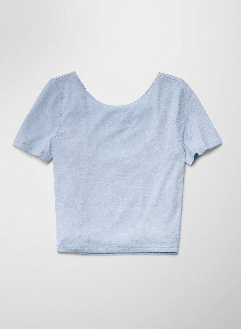 JULIANA T-SHIRT - Cropped scoop-back t-shirt