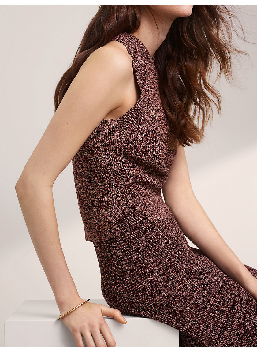 CREVIER KNIT TOP - Cropped, knit tank top