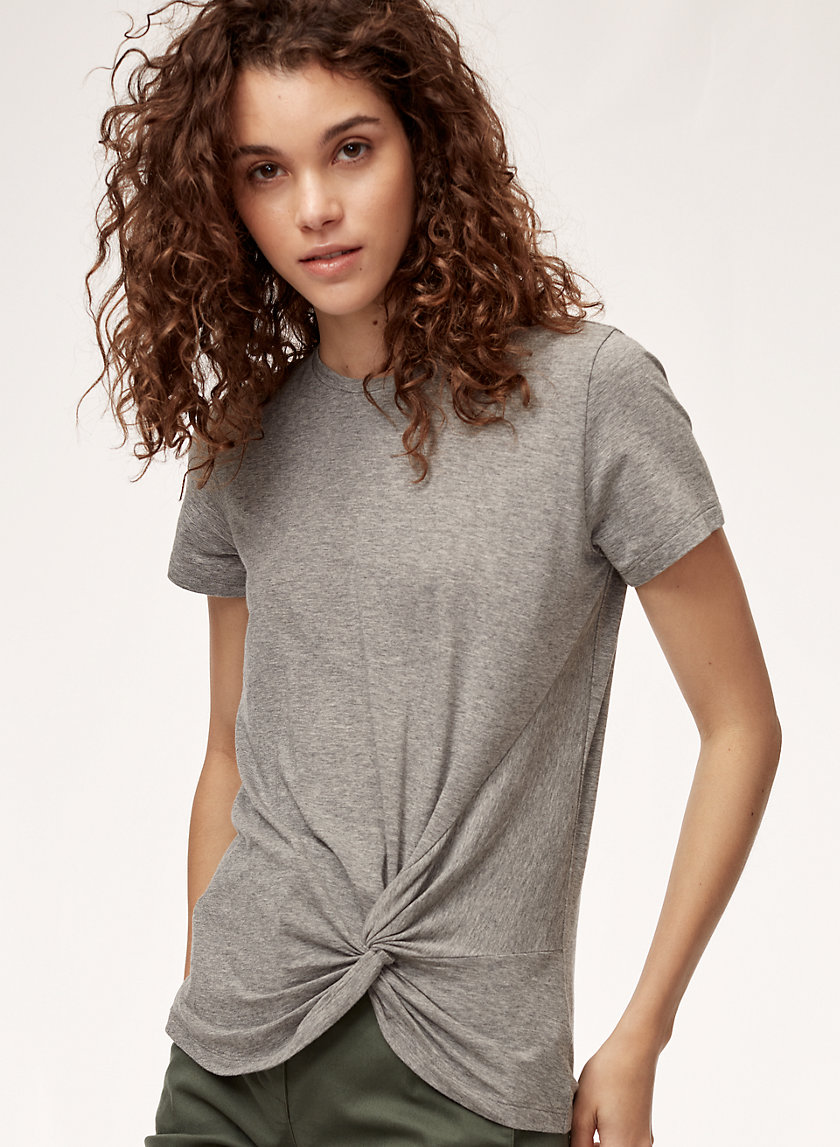 The Group by Babaton FOUNDATION KNOT TEE | Aritzia