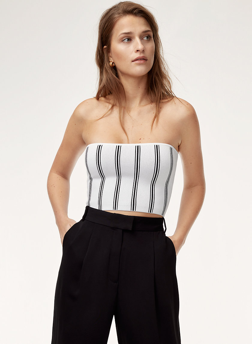 ESSAMBA TUBE TOP - Cropped, striped, knit tube top