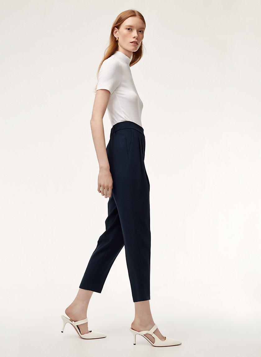 COHEN PANT TERADO - Cropped, pleated dress pant