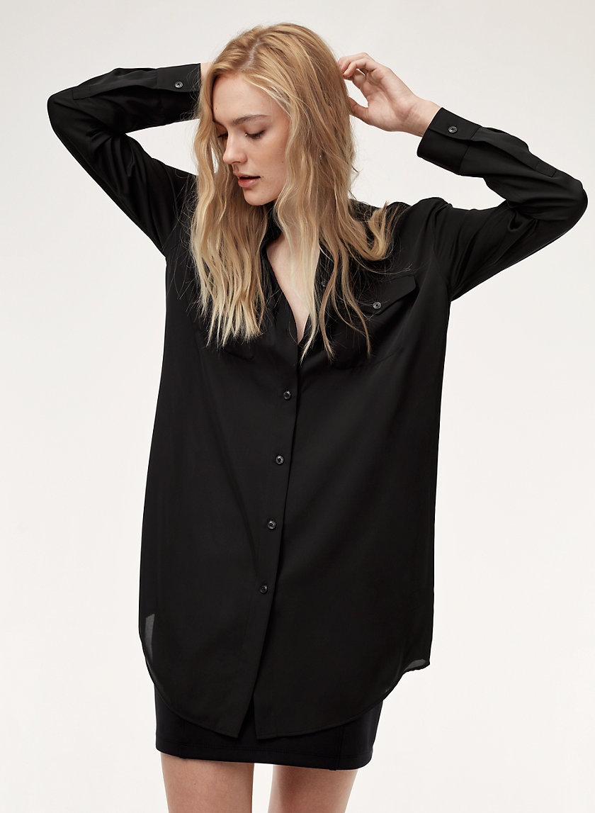 Talula BAND COLLAR SHIRT | Aritzia