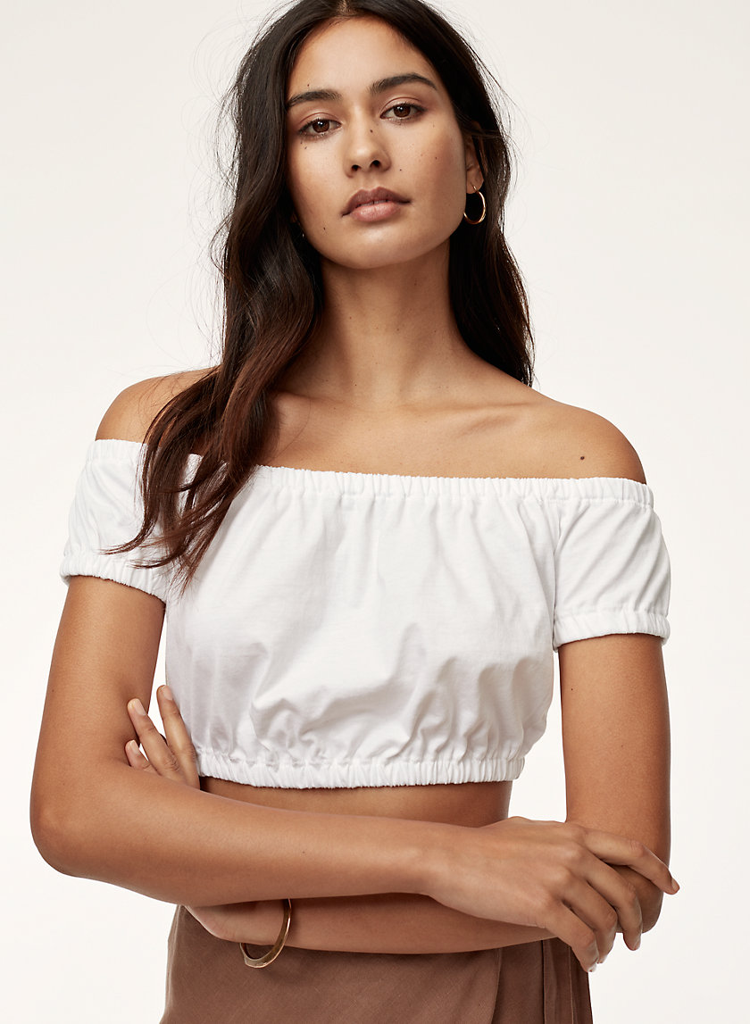 ADELISA T-SHIRT - Cropped, off-the-shoulder top