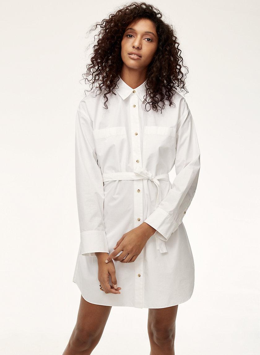 DUPUIS DRESS - Belted, poplin shirt dress