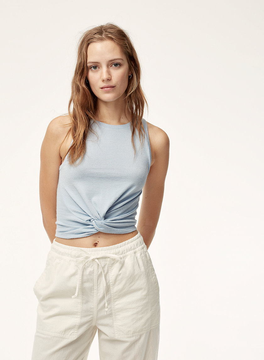 DALEY TANK - Knotted-front tank top