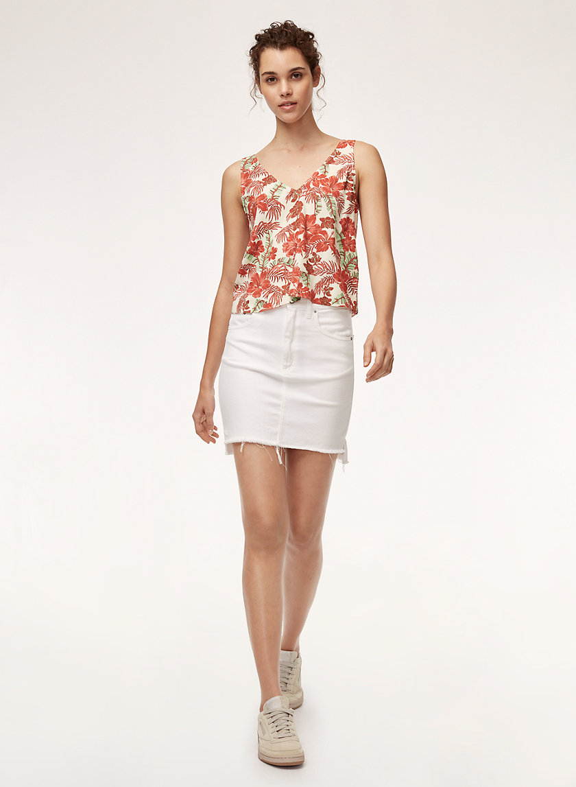KEMPNER BLOUSE - Sleeveless, tie-back blouse