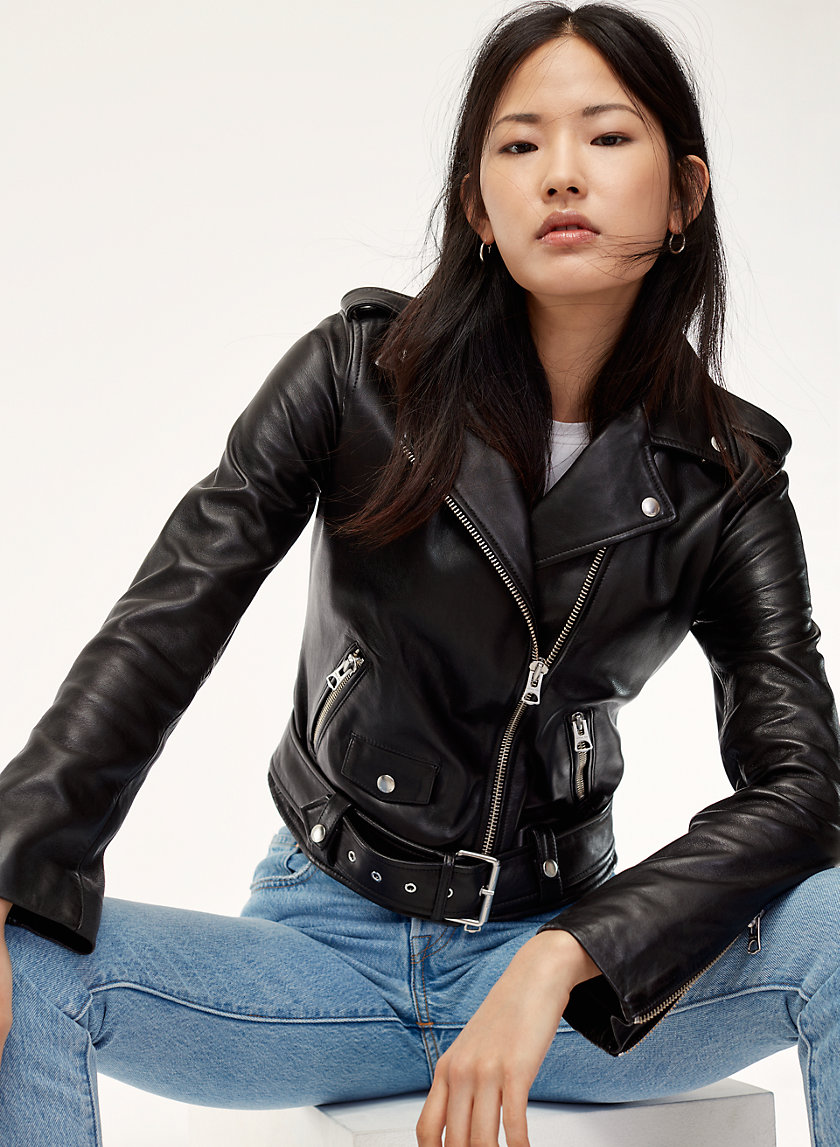 Wilfred Free LENNON LEATHER BIKER | Aritzia