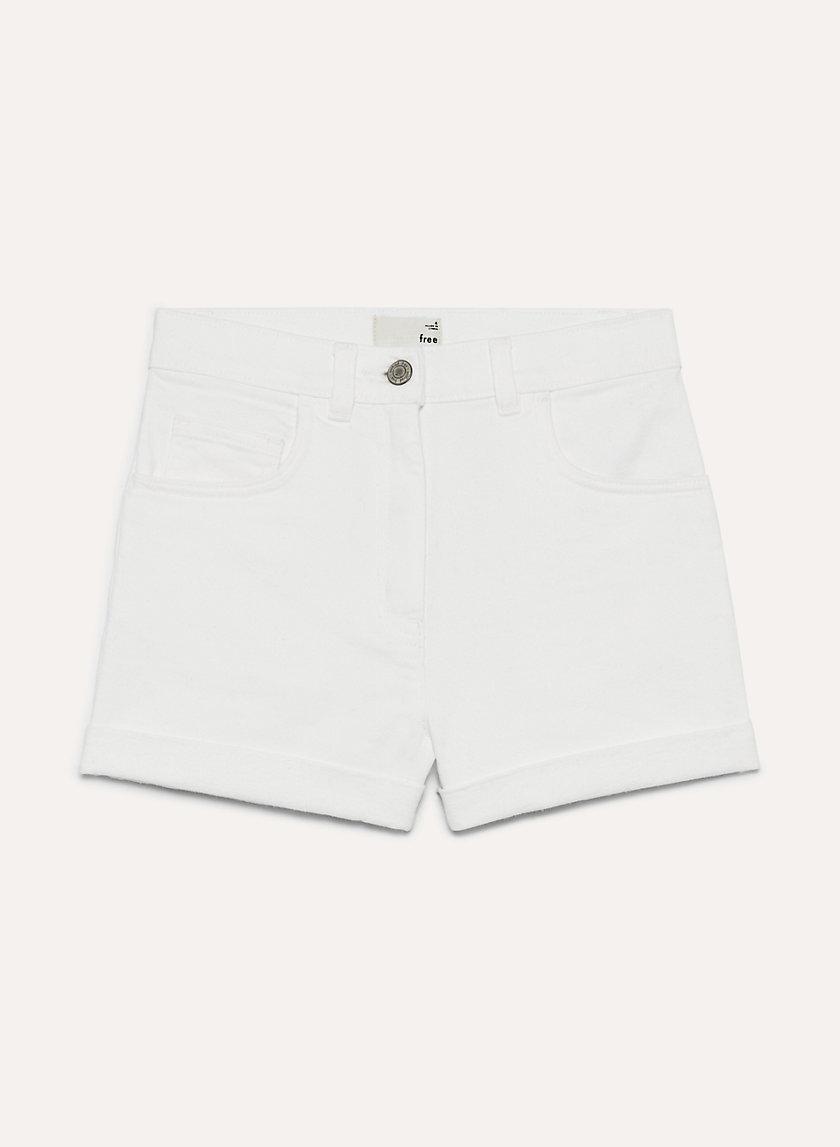 JOVOVICH SHORT - High-waisted denim shorts