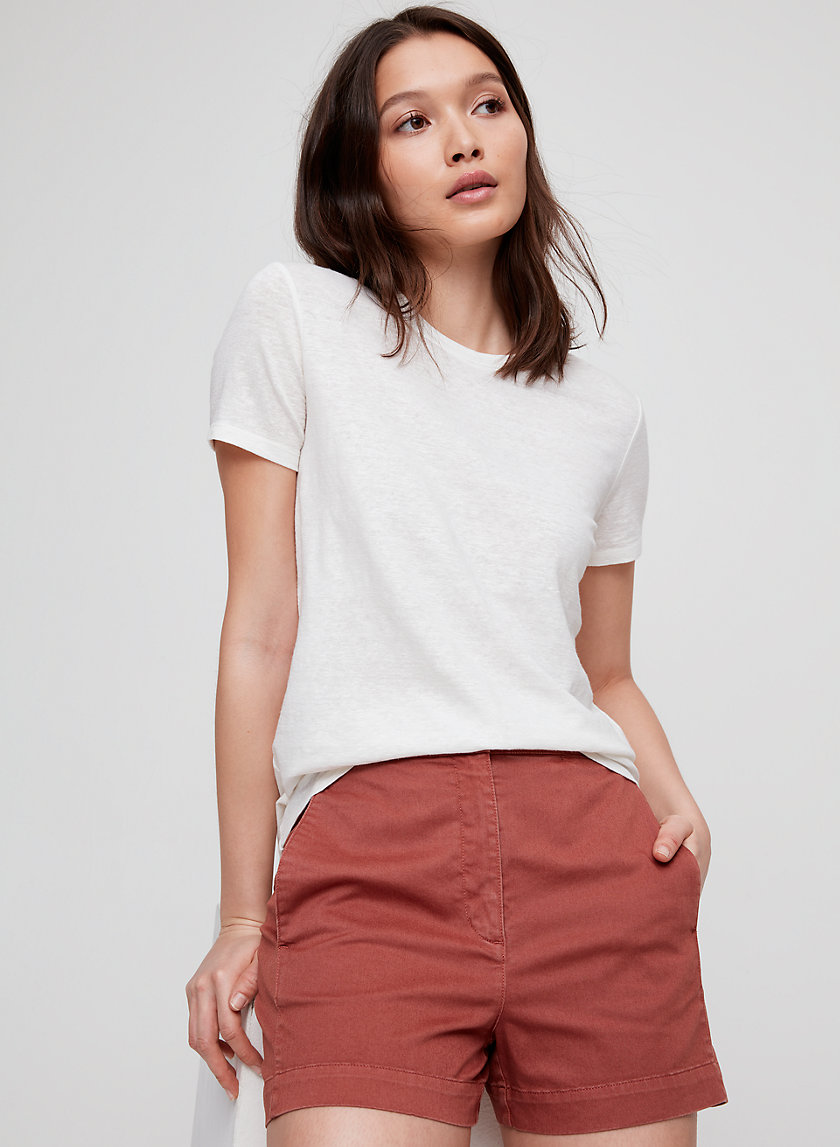 The Group by Babaton LAGARDE LINEN T-SHIRT | Aritzia