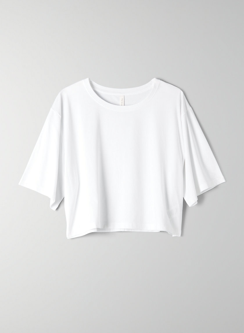 FOUNDATION CROP T-SHIRT - Cropped crew-neck t-shirt