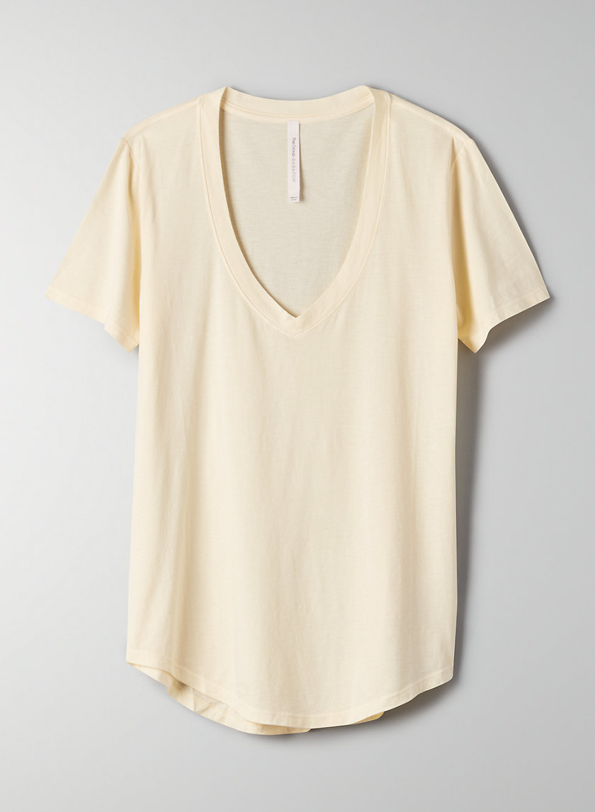 FOUNDATION V-NECK - Cotton-blend, V-neck t-shirt
