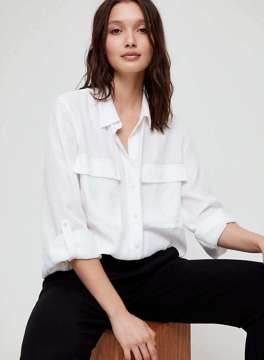 The Group by Babaton UTILITY BUTTON-UP | Aritzia