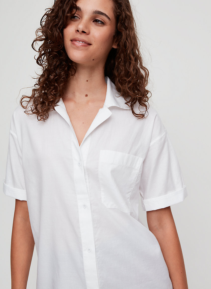 WITHERS BLOUSE - Short-sleeve button-down shirt