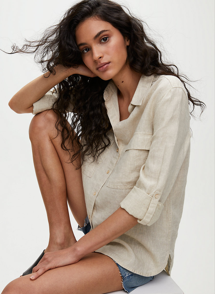 UTILITY BUTTON-UP - Linen button-up shirt