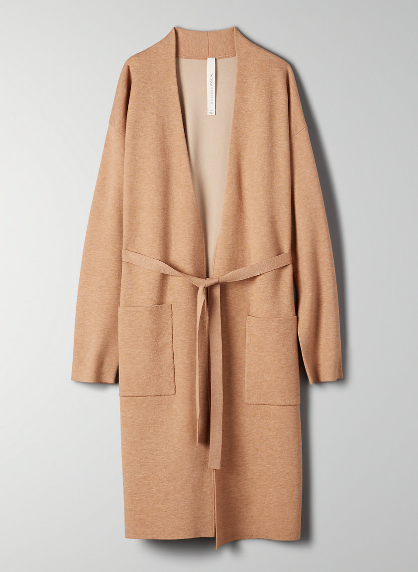 TY CARDIGAN - Belted cardigan with pockets