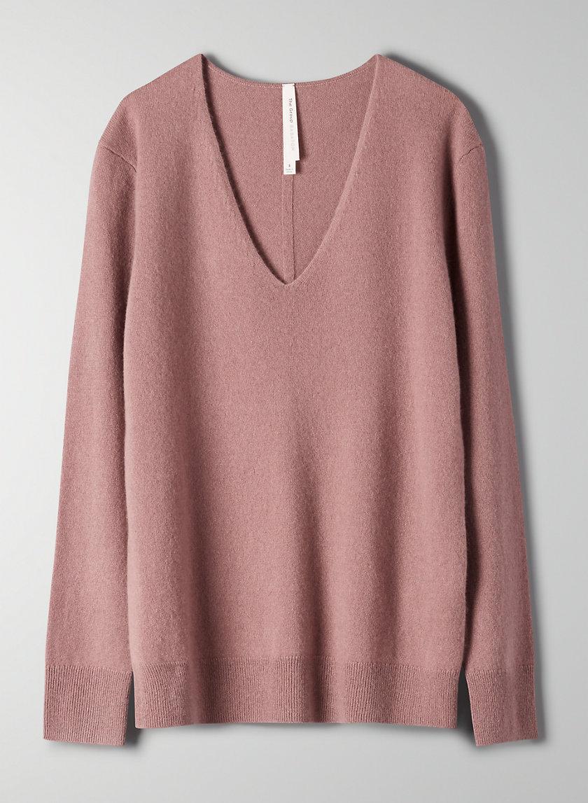 LUXE CASHMERE V-NECK - Machine-washable cashmere sweater
