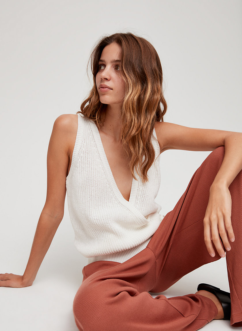 The Group by Babaton STACEY KNIT TOP | Aritzia