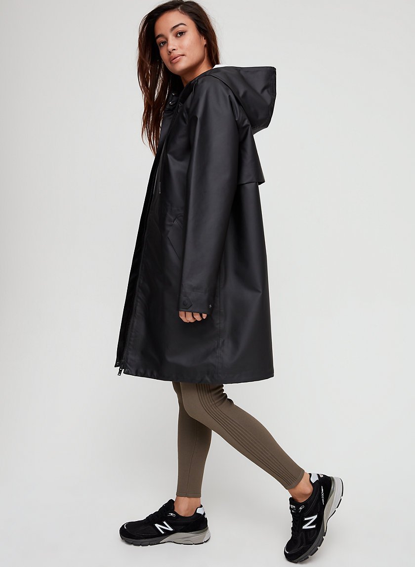 BILLIE RAIN JACKET - Long, hooded raincoat