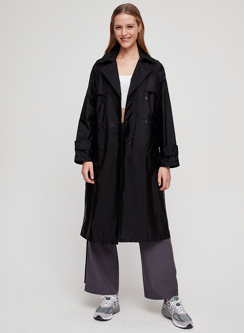 LOU TRENCH COAT - Oversized, water-resistant trench coat