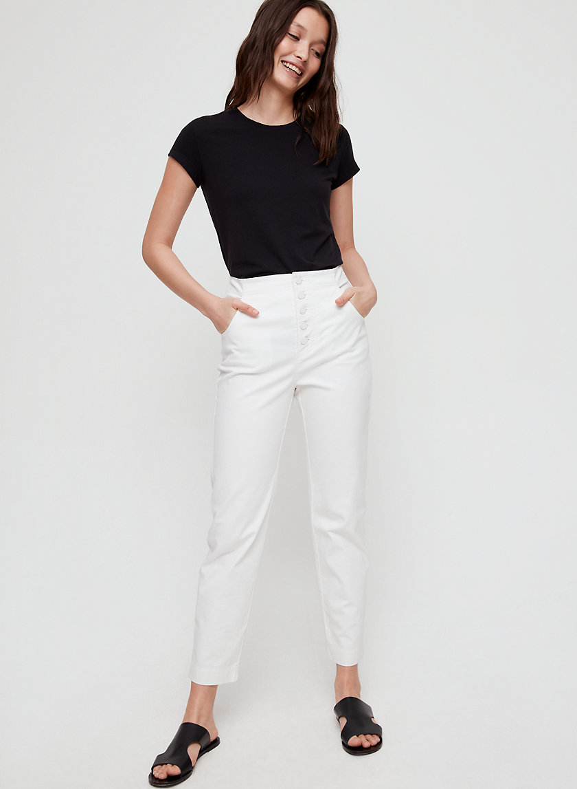 ZOEY PANT - High-waisted, cotton-twill pant