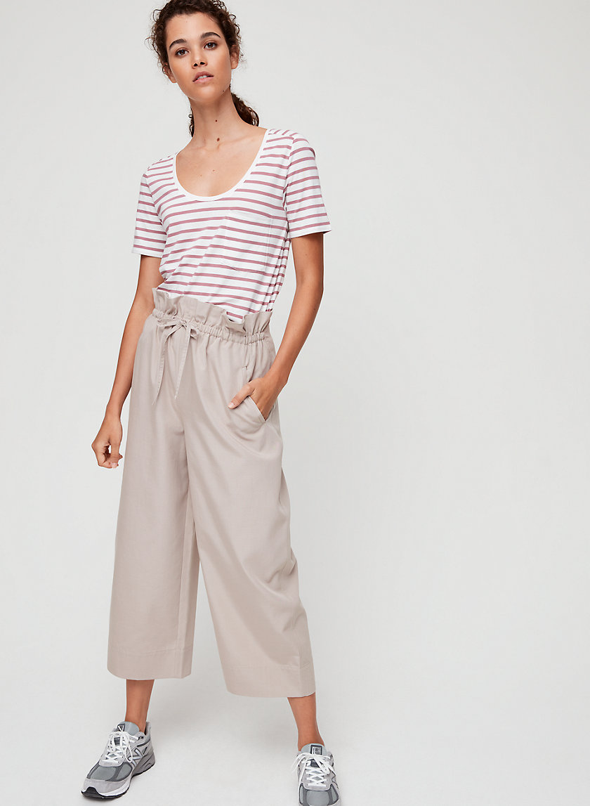 KERRI PANT - High-waisted paperbag pant