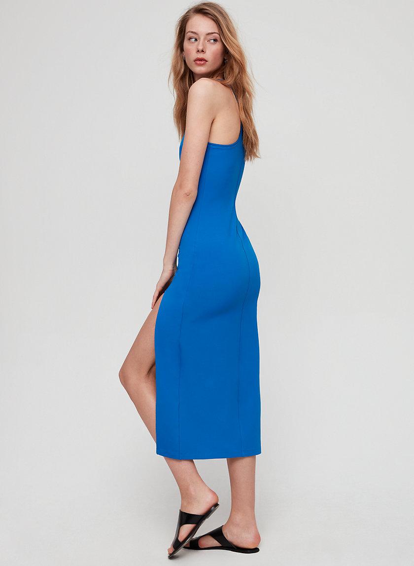 MELU DRESS - Bodycon midi dress with slit