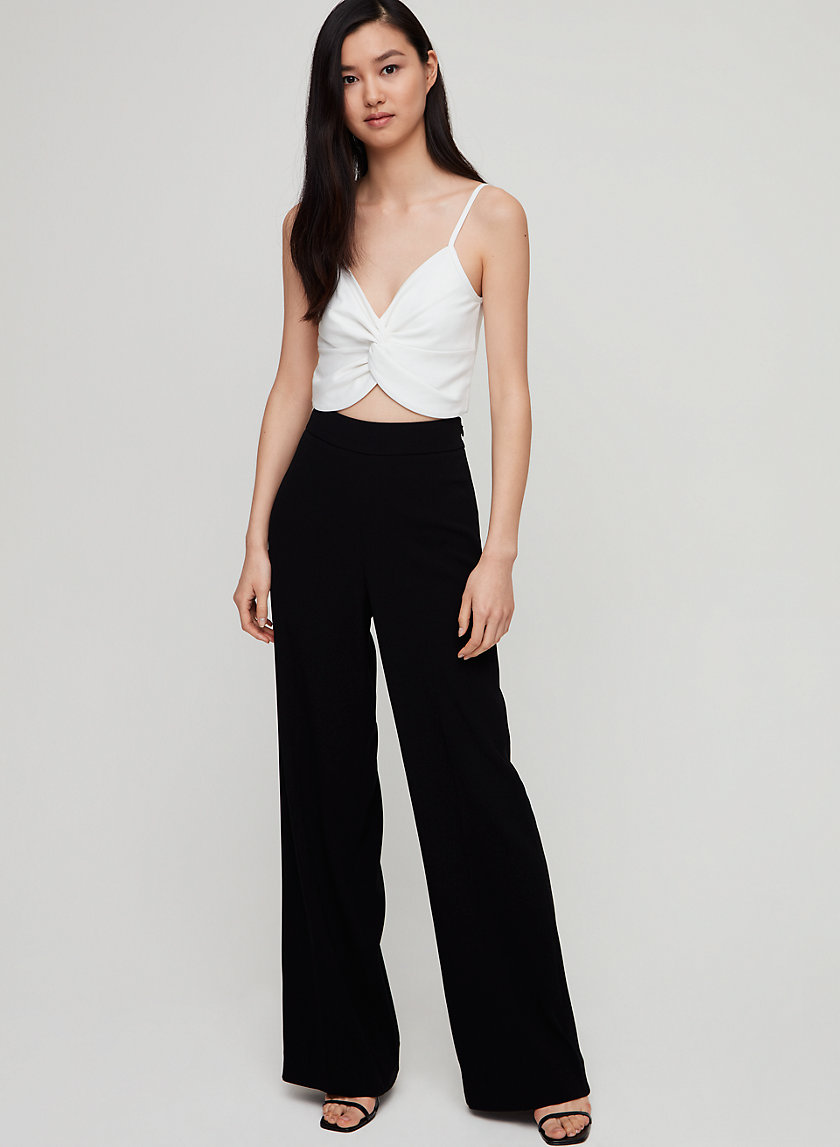 ALFIE TANK - Cropped, knotted front tank top
