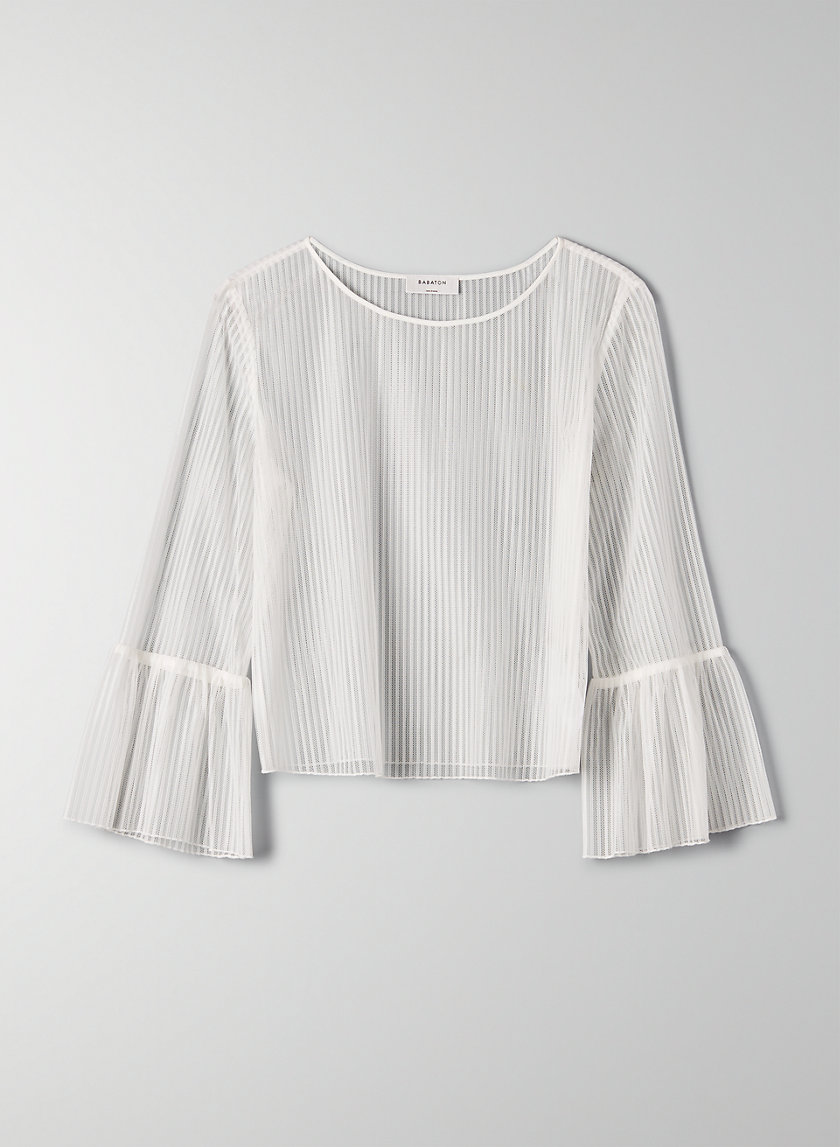 HUMBERT BLOUSE - Sheer bell-sleeve top