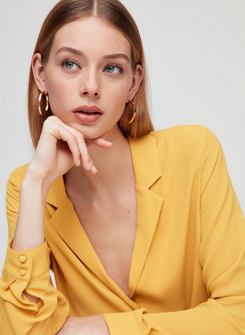 BRETT BLOUSE - Faux wrap blouse