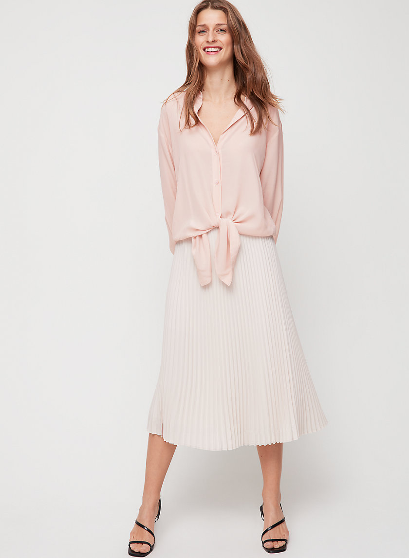 SERGE SHIRT - Relaxed, tie-front blouse