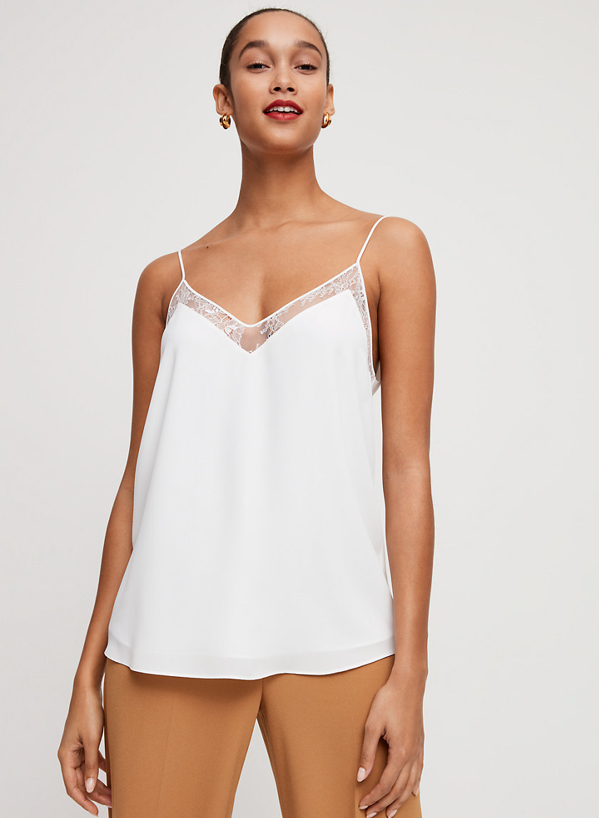GALEN CAMISOLE - Lace-detailed camisole