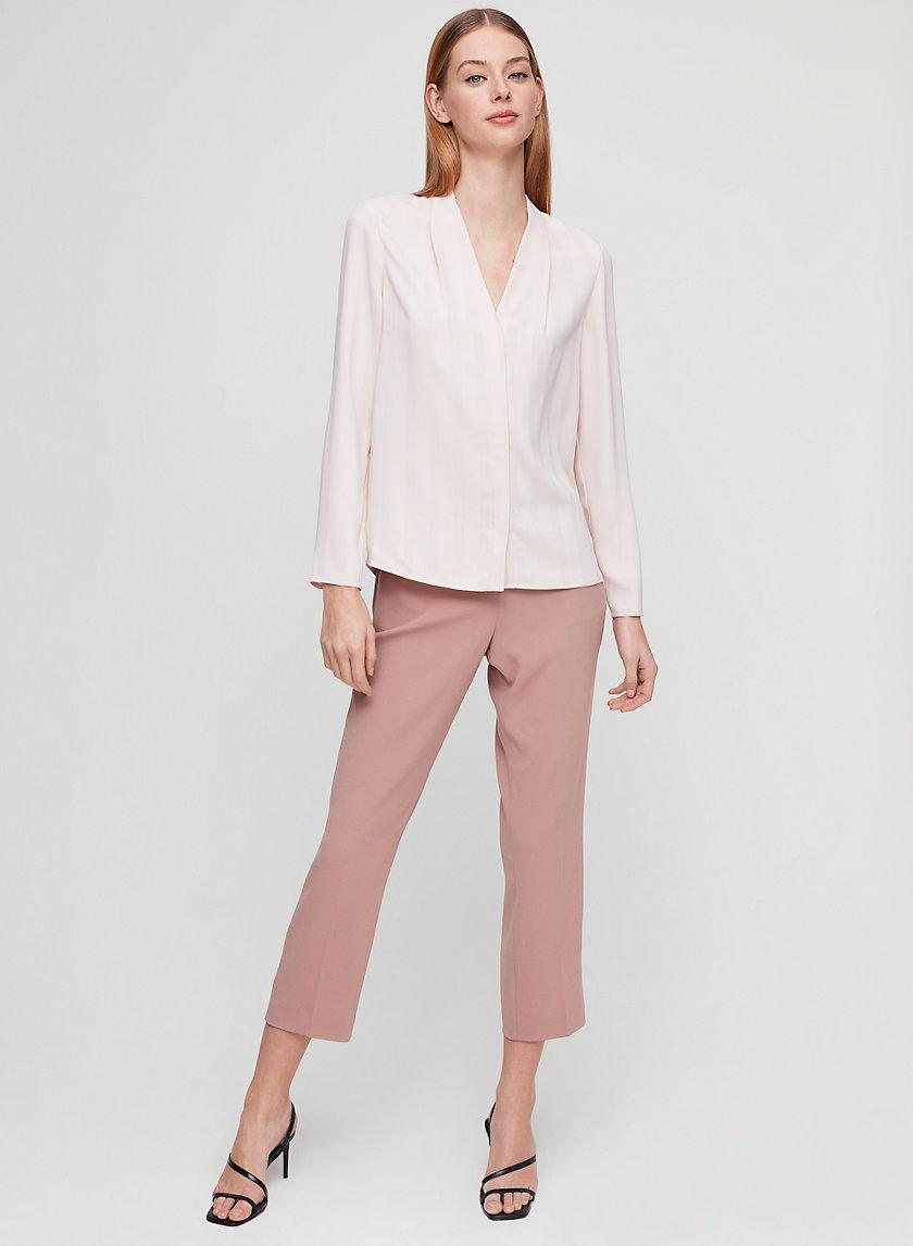 AKIRA BLOUSE - Silky matte-satin blouse