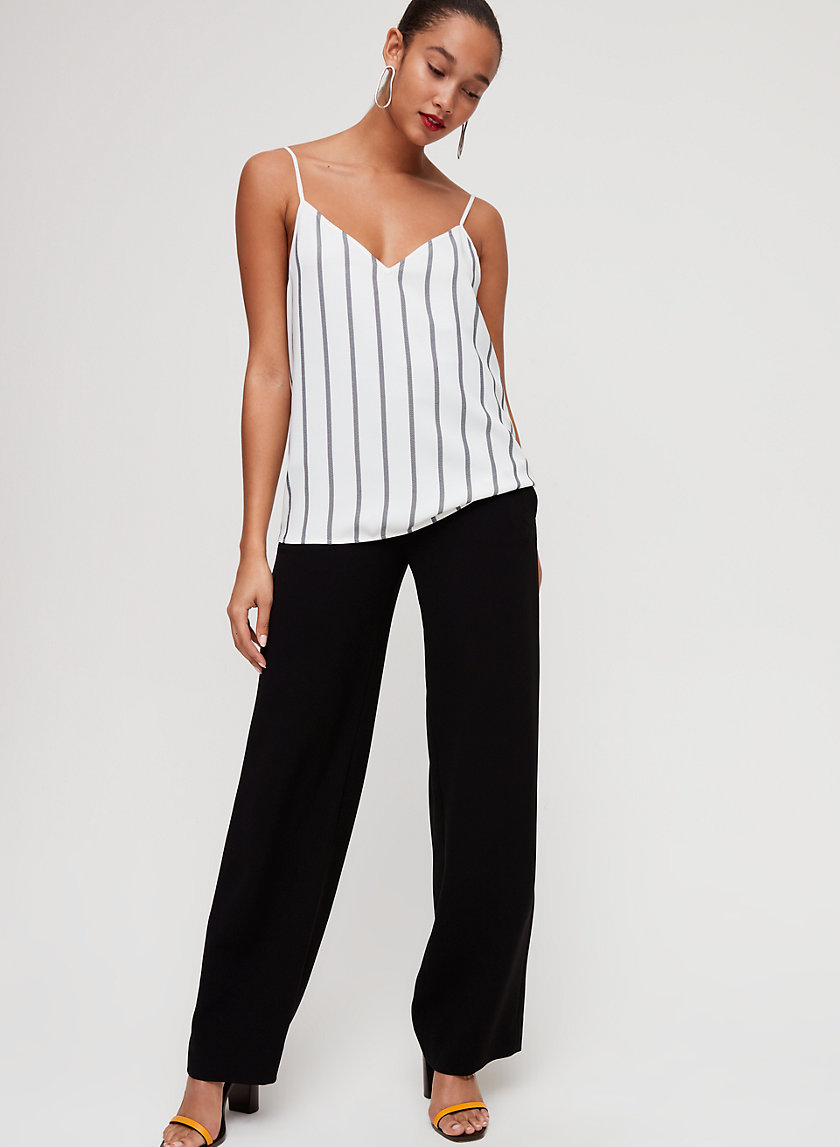 EVERLY CAMISOLE - Striped V-neck Camisole