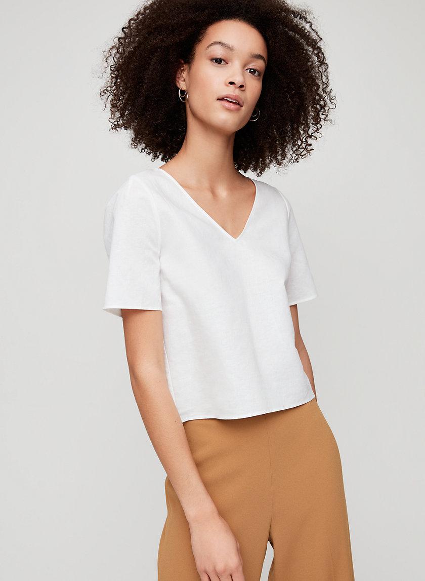 RANDY BLOUSE - Cropped short-sleeve blouse
