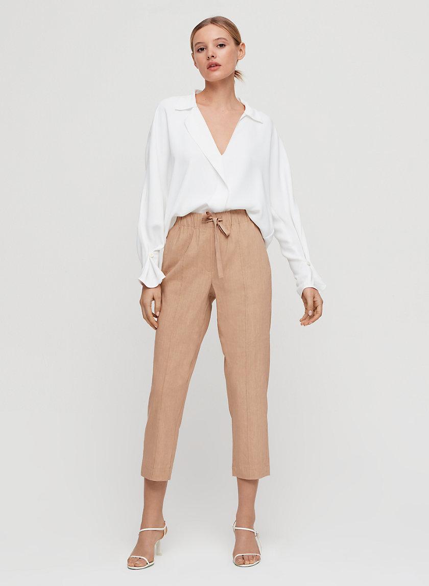 MARTIN BLOUSE - Cropped, V-neck blouse