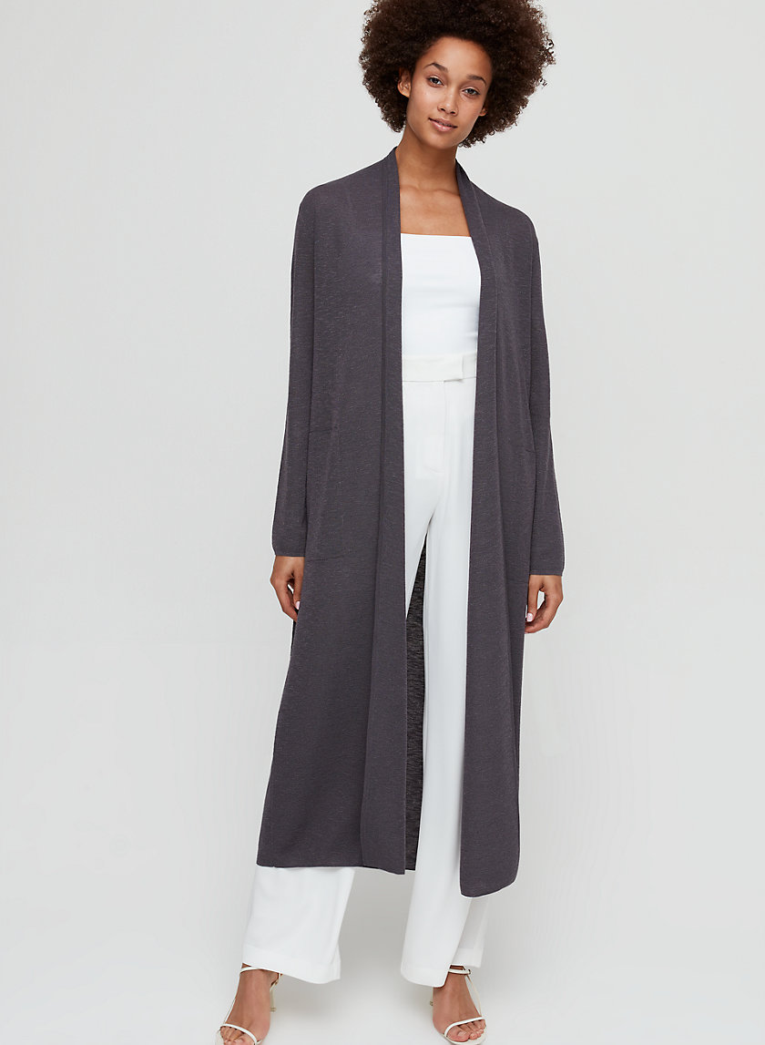 KIRBY CARDIGAN - Belted cardigan with pockets