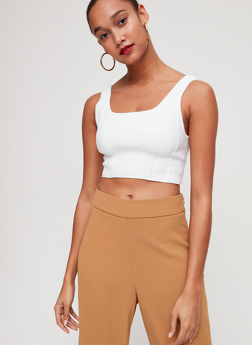 ARJUN KNIT TOP - Cropped, knit tank top