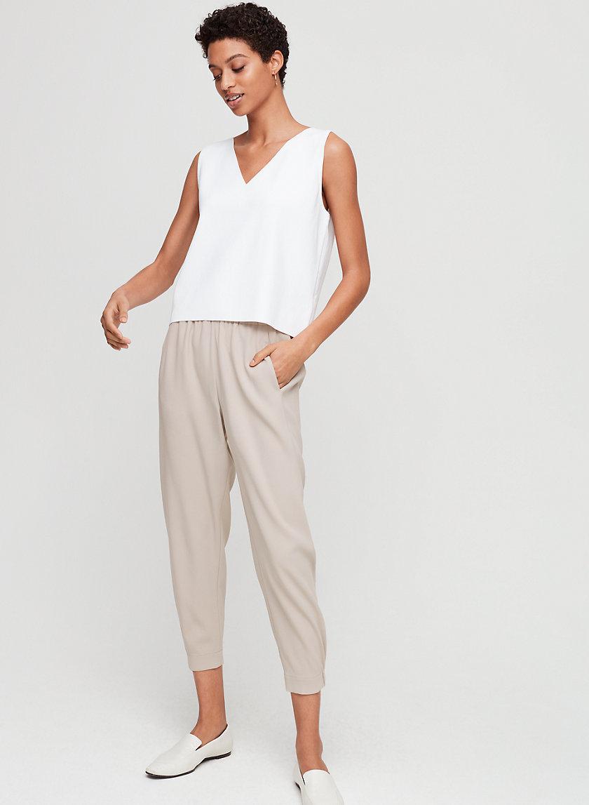 MURPHY KNIT TOP - Cropped, sleeveless knit blouse